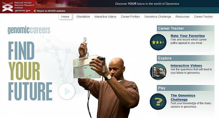 Screenshot of the Genomic Careers web site.