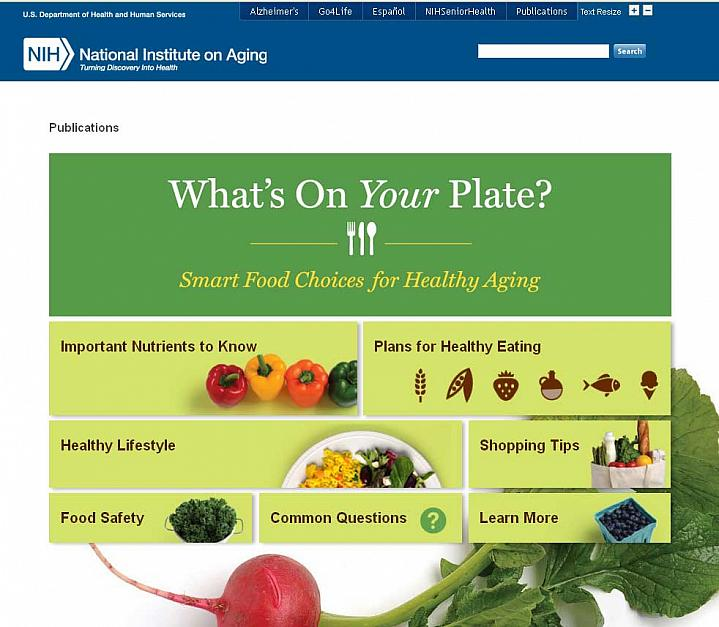 Screenshot of the What's On Your Plate website.