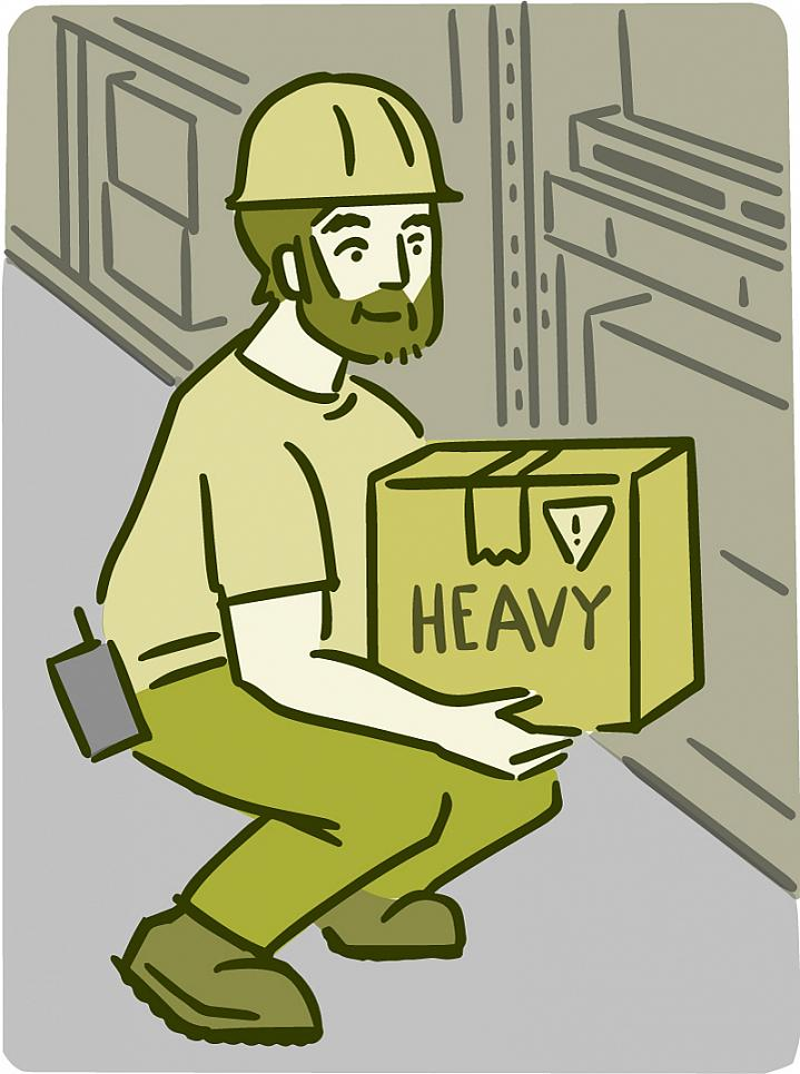 Man lifting a heavy box