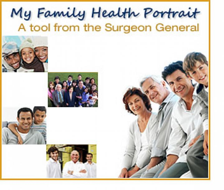 Screenshot of the My Family Health Portrait website