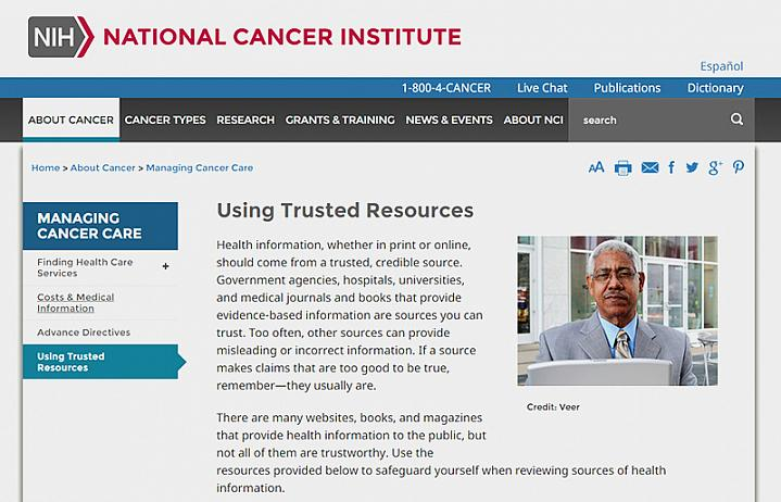 Screenshot of Using Trusted Resources webpage