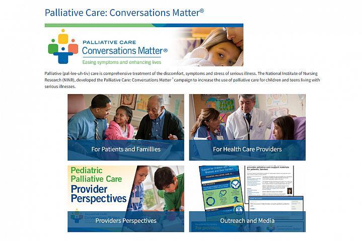 Screenshot of the Palliative Care website